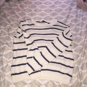 Blue and White Forever 21 Long sleeve sweater